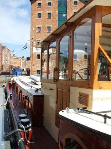 bespoke wheelhouse on a dutch barge