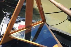 wooden cratch board with folding window