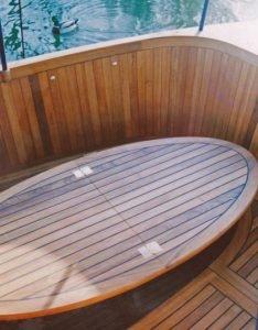 boat teak folding table