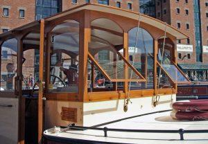 teak wheelhouse built by Chiselpig